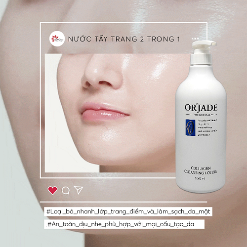Tẩy trang 2 trong 1 - Collagen Cleansing Lotion